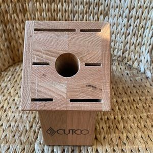 CUTCO Galley Set Wood Knife Block